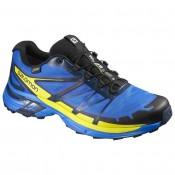Hombre Salomon Wings Pro 2 Gtx Azul/Negro/Amarillo Zapatillas De Montaña