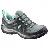 Mujer Excursionismo Zapatillas Steel Azul/Asphalt/Jade Verde De Salomon Ellipse 2 Gtx W