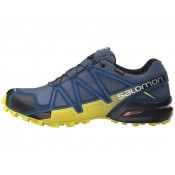 Hombre Zapatillas Salomon Speedcross 4 Gtx SlateAzul/Azul Depth/Corona Amarillo