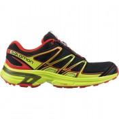 Negro/Granny Verde/Radiant Rojo Salomon Wings Flyte 2 Trail - Hombre Zapatillas Running