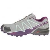 Zapatillas Running Quarry/Acai/Fair Aqua Mujer Salomon Speedcross 4