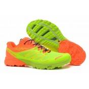 Hombre Salomon S Lab Sense Zapatillas En Naranja Verde