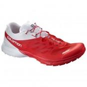 Mujer/Hombre Salomon S-Lab Sense 5 Ultra Trail Zapatillas - Racing Rojo/Blanco/Racing Rojo