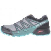 Zapatillas Trail Running De Ligero Gris/Negro/Bubble Azul Salomon Speedcross Vario Mujer