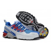 Hombre Zapatillas Running De Athletic Trail Azul Gris Salomon Gcs
