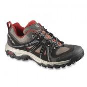 Hombre Zapatillas Running De Salomon Evasion Aero Negro/Gris/Rojo Trail
