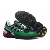 Salomon Gcs Athletic Trail Hombre Zapatillas De Montaña Negro Verde