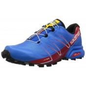Hombre Zapatillas Running Salomon Speedcross Pro Brillante Azul/Radiant Rojo/Negro Trail