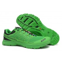 Hombre Salomon S-Lab Sense 2 Trail Ultra Ligeroweight Verde Negro Zapatillas Running