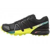 Negro/Everglade/Amarillo Zapatillas Salomon Speedcross 4 Hombre