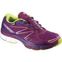Zapatillas Running Púrpura/Verde Salomon X-SCrema 3d Gtx Mujer