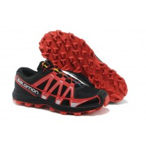 Hombre Zapatillas Trail Running Negro Rojo Salomon Fellraiser Mountain Trail Jnh
