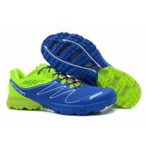 Salomon S Lab Sense Hombre Zapatillas Trail Running En Verde Azul