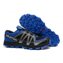 Salomon Fellraiser Mountain Trail Hn Mesh Negro Azul Hombre Zapatillas