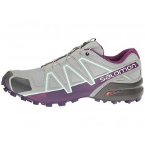 Zapatillas Running Quarry/Acai/Fair Aqua Mujer Salomon Speedcross 4