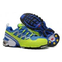 Azul Amarillo Salomon Gcs Hombre Athletic Trail Zapatillas De Montaña