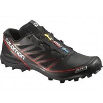 Salomon S-Lab Speed Mujer/Hombre Excursionismo Zapatillas - Negro/Rojo