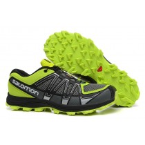 Zapatillas Negro Amarillo Salomon Fellraiser Mountain Trail Hombre Hn Mesh