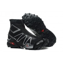 Negro Plata Botas Salomon Hombre Snowcross Trail Athletic