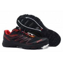 Negro/Rojo Salomon S-Lab Sense-Hombre Zapatillas De Montaña