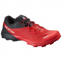 Mujer/Hombre Salomon S-Lab Sense 5 Ultra Trail Soft Ground - Racing Rojo/Negro/Blanco Zapatillas Running
