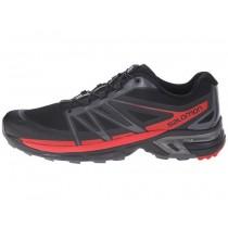 Negro/Oscuro Gris/Radiant Rojo Salomon Wings Pro 2 Hombre Zapatillas
