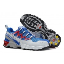 Hombre Zapatillas Running De Athletic Trail Azul Gris Salomon Gcs