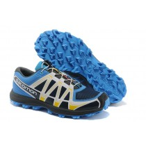 Salomon Fellraiser Hombre Mountain Trail Zapatillas Jnh Negro Blanco Azul