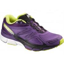 Salomon X-SCrema 3d Púrpura/Verde Mujer Zapatillas Running