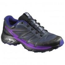Mujer Zapatillas Deportivas Salomon Wings Pro 2 Gtx® W Negro/Azul/Púrpura