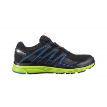 Zapatillas Running De Hombre Salomon X-Mission 3 Trail - Color: Negro/Granny Verde/Brillante Azul