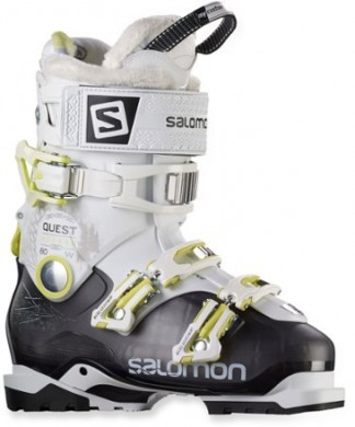 Mujer Salomon Quest Access 80 Ski Zapatillas Trail Running - Anthracite/Blanco/Acid Verde