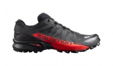 Mujer/Hombre Salomon S-Lab Speedcross Trail Zapatillas Running - Color: Negro/Racing Rojo