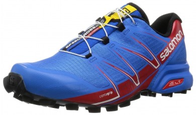 Hombre Zapatillas Running Salomon Speedcross Pro Brillante Azul/Radiant Rojo/Negro Trail