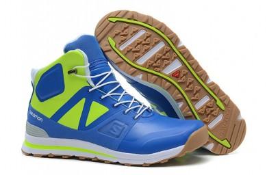 Hombre Salomon Outban Mid Zapatillas Azul/Verde