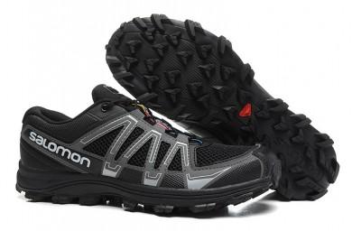 Hombre Zapatillas De Montaña De Salomon Fellraiser Mountain Trail Hn Mesh Negro Oscuro Gris