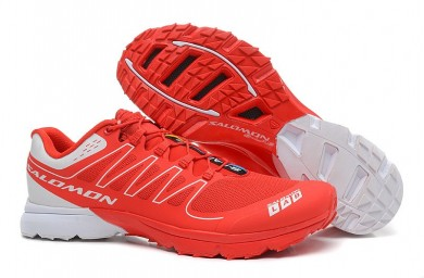 Salomon S-Lab Sense 2 Trail Hombre Zapatillas Trail Running Ultra Ligeroweight Rojo Blanco