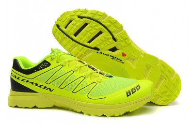 Hombre Salomon S-Lab Sense 2 Trail Ultra Ligeroweight Zapatillas De Montaña Fluorescent Amarillo Verde