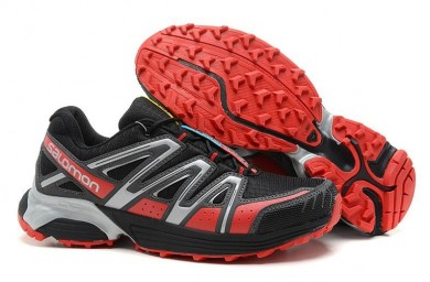 Negro Gris Rojo Salomon Xt Hornet Trail Hombre Zapatillas