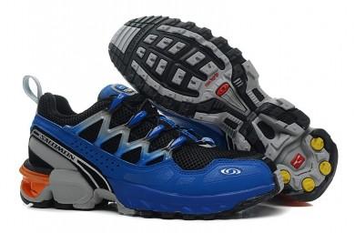 Hombre Zapatillas De Montaña De Negro Azul Gris Salomon Gcs Athletic Trail