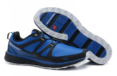 Salomon S-Wind Sky Azul Negro Hombre Zapatillas Trail Running