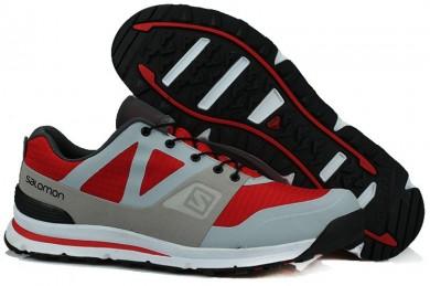 Zapatillas Running Salomon Outban Low Hombre Gris/Rojo/Negro
