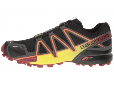 Negro/Blanco/Rojo Dalhia Salomon Speedcross 4 Cs Hombre Zapatillas