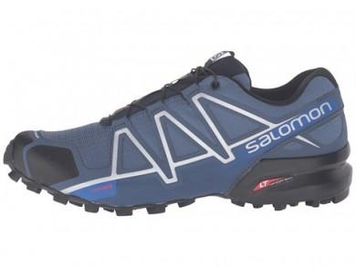 SlateAzul/Negro/Azul Yonder Salomon Speedcross 4 Hombre Zapatillas