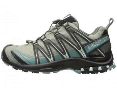 Shadow/Negro/Blanco Salomon Xa Pro 3d Cs Wp Mujer Zapatillas Running