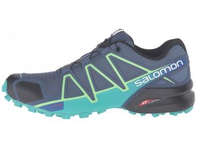 Salomon Speedcross 4 Mujer SlateAzul/Spa Azul/Fresh Verde Zapatillas De Montaña