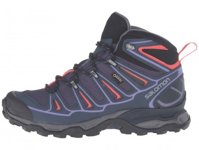 Zapatillas Trail Running Nightshade Gris/Profundo Azul/Naranja Rojo De Salomon X Ultra Mid 2 Gtx Mujer