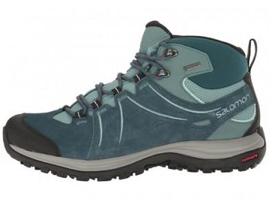Mujer Salomon Ellipse 2 Mid Ltr Gtx Oscuro Verde/Blanco/Azul Zapatillas De Montaña
