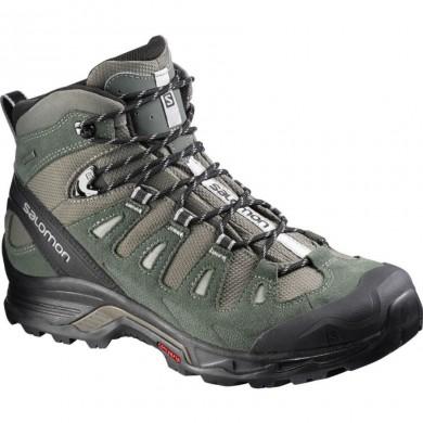 Hombre Verde/Marrón Salomon Quest Prime Gtx Backpacking Zapatillas De Montaña