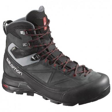 Negro/Gris/Rojo Hombre Salomon X Alp Mtn Gtx Zapatillas De Montaña